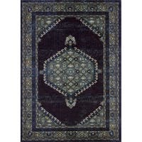 Lyke Home Persian-Inspired Espresso Area Rug - 8' x 10'