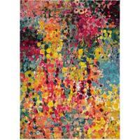 LYKE Home Impressionist-inspired Olefin Multicolored Rug - 8' x 10'