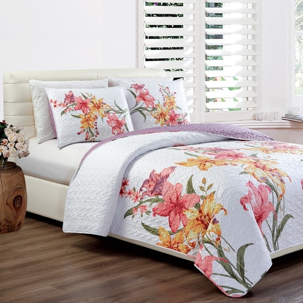 Shop Panama Jack Hibiscus Bloom Quilt Set Free Shipping