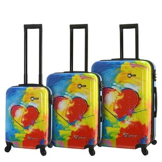 Mia Toro ITALY Prado-In Love 3-piece Expandable Hardside Spinner Luggage Set