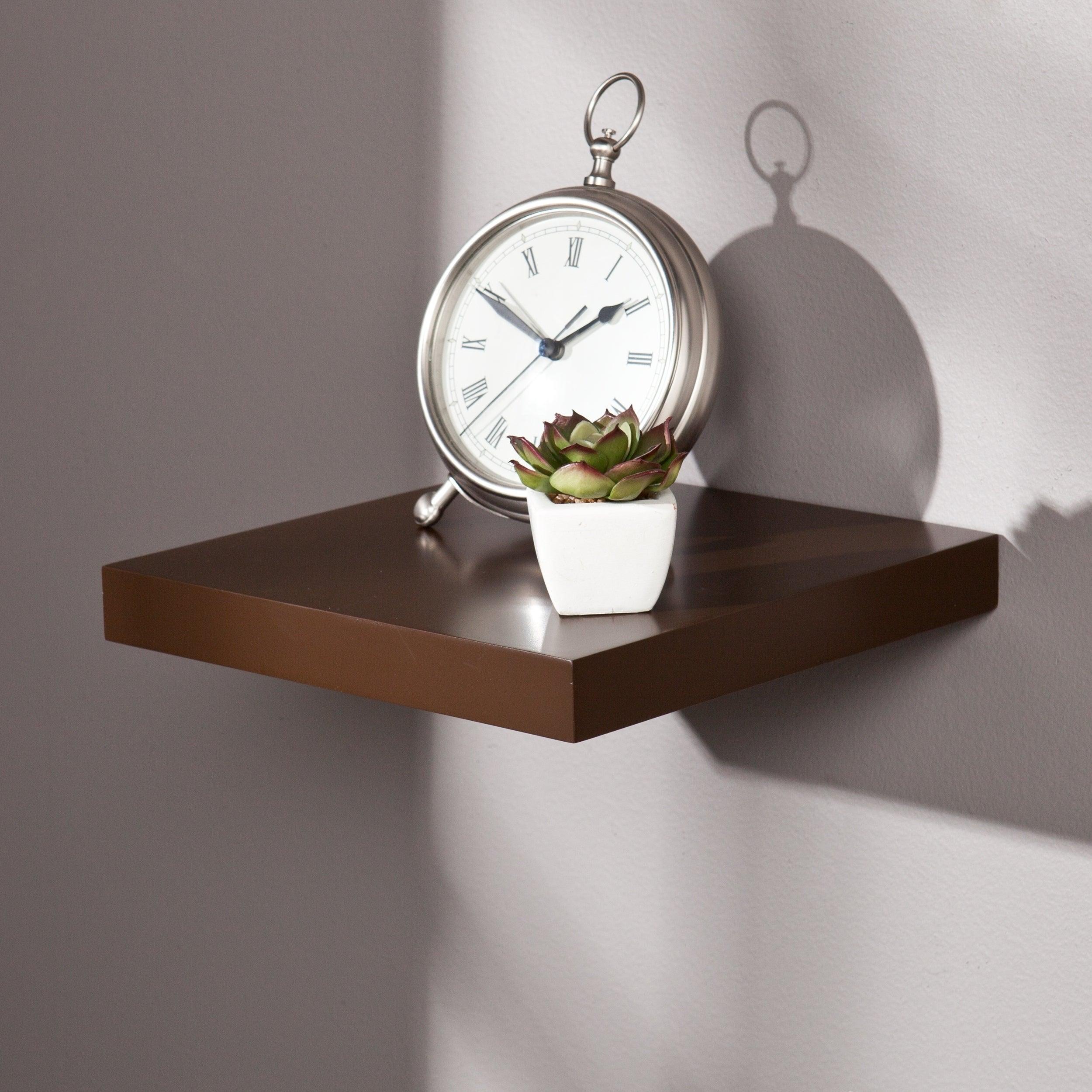 Hi Line 10 Inch Espresso Floating Shelf