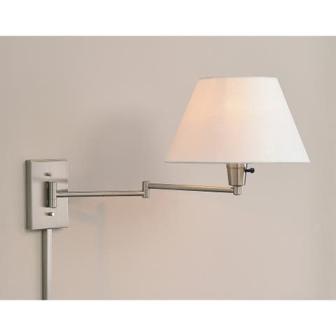 Copper Grove Anticosti Wall Brushed Steel Swing-Arm Lamp