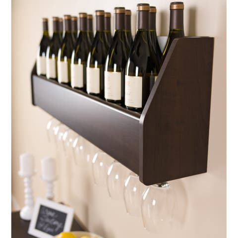 Copper Grove Fulton Espresso Floating Wine Rack