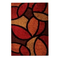 Palm Canyon Zafiro Poppy Red Shag Area Rug - 5'3 x 7'6