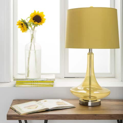 Carson Carrington Paimio Solid Yellow Bray Table Lamp
