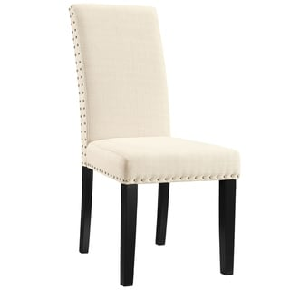 Porch and Den  Felix Upholstered Grey and Beige Dining Chair (Beige)