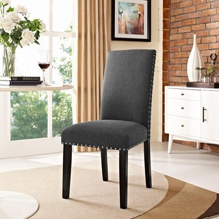 Porch & Den Felix Upholstered Grey and Beige Dining Chair