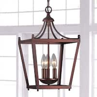 Jacinta 3-light Iron Pagoda-shape Lantern Chandelier