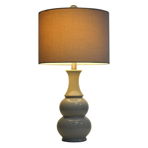 Copper Grove Hersey Ceramic Ivory Table Lamp