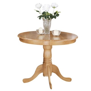 Copper Grove  Karl Wood 36-inch Round Antique Table (Oak Finish)