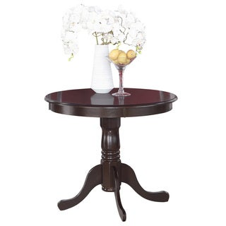 Copper Grove  Karl Wood 36-inch Round Antique Table (Cappuccino Finish/Black Finish)