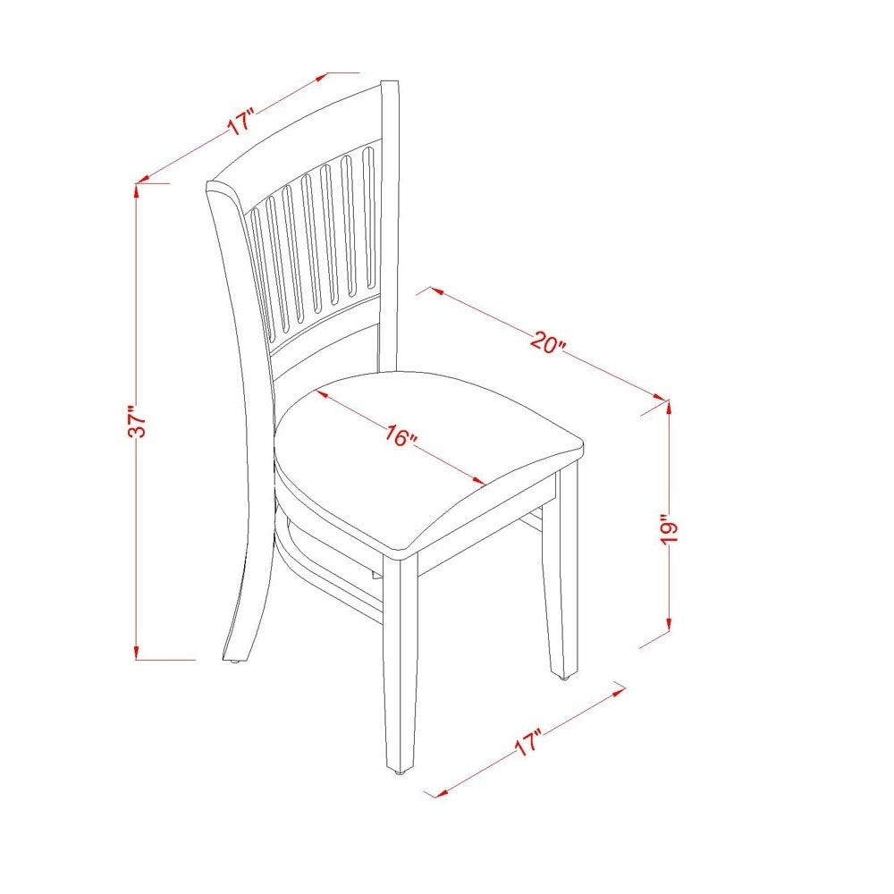 Copper-Grove-Quince-Oak-Kitchen-Table-and-2-Slat-Back-Chairs thumbnail 9