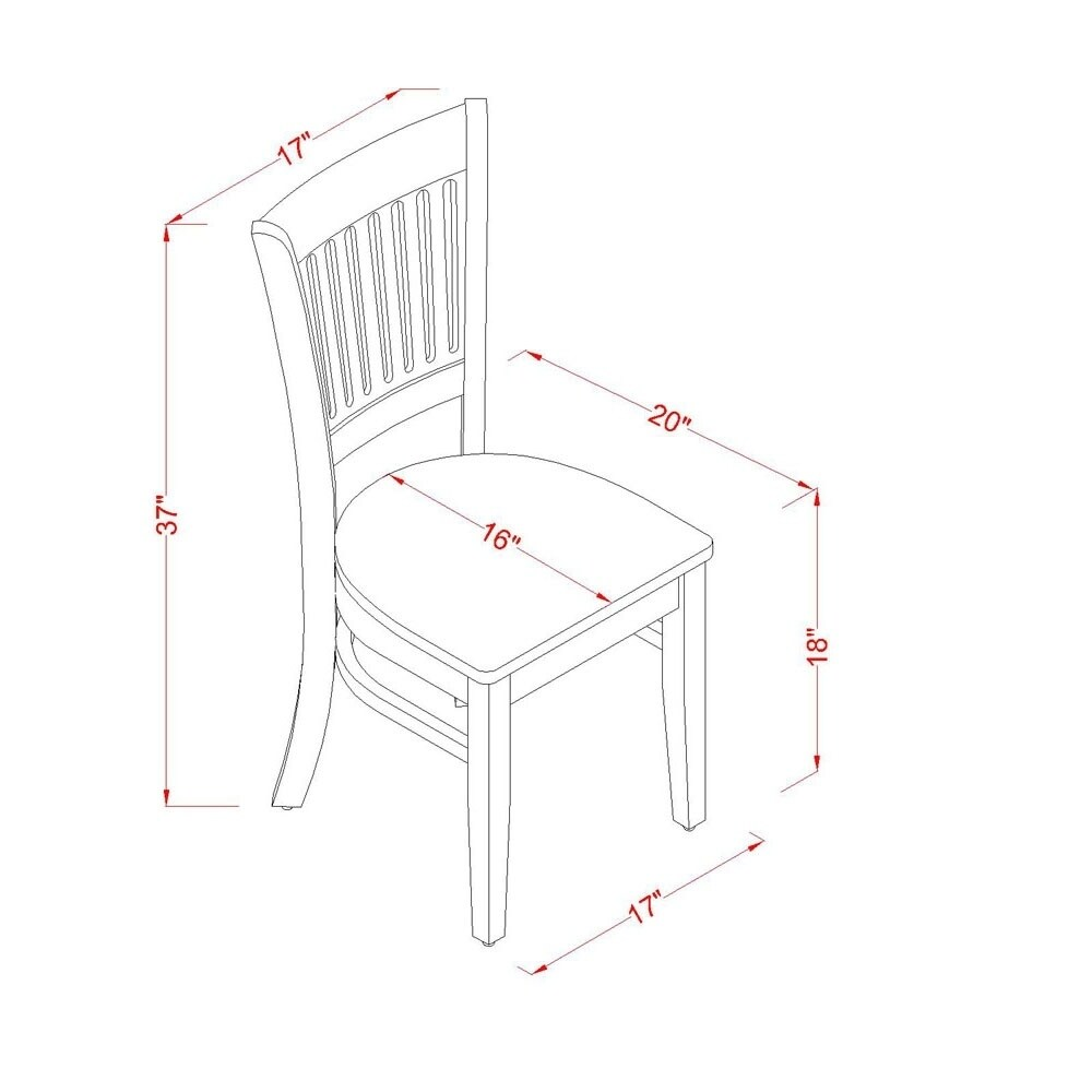 Copper-Grove-Quince-Oak-Kitchen-Table-and-2-Slat-Back-Chairs thumbnail 10