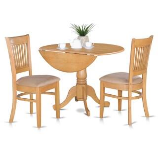 Laurel Creek Daulton Oak Kitchen Table and 2 Slat Back Chairs