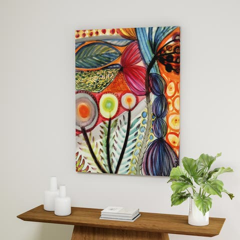 The Curated Nomad 'Vivaces' Gallery Wrapped Canvas Art