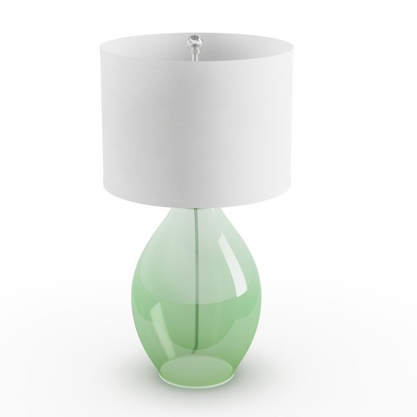 Captivating Palm Canyon Sunflower 1 Light Green Glass Table Lamp