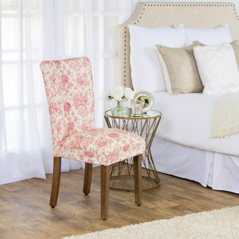 HomePop Parsons Dining Chair - Cream and Red Toile