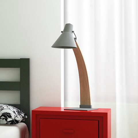 Palm Canyon Cantera Mid-Century Modern Wood Lamp