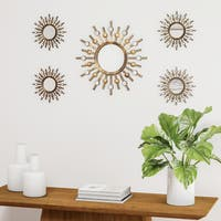 Palm Canyon Suez Two-tone Bronze Burst Wall Mirrors (Set of 5)