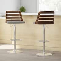 Palm Canyon Acacia Mid-century Modern Walnut Finished Adjustable Bar Stool