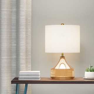 Palm Canyon Hermosa Glass And Linen Table Lamp