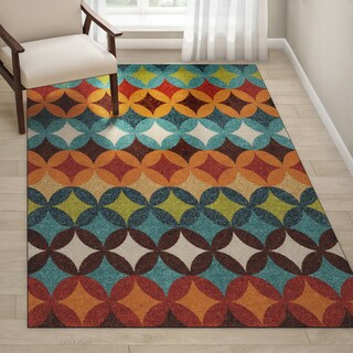 "Palm Canyon Clara Indoor/ Outdoor Multi Area Rug - 5'2"" x 7'6"""