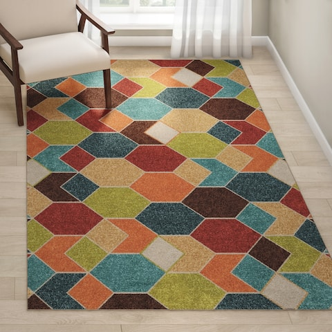 "Carson Carrington Aspsjo Indoor/ Outdoor Multi Area Rug - 5'2"" x 7'6"""