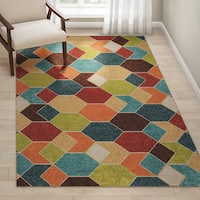 Palm Canyon Ramon Indoor/ Outdoor Multi Area Rug - 5'2 x 7'6