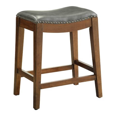 Copper Grove Five Bridge 24-inch Saddle Stool with Nail Head Accents