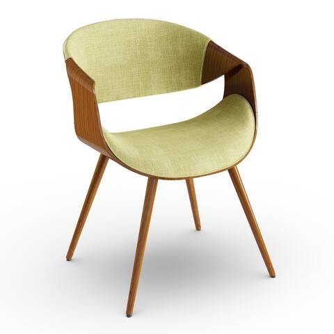 Carson Carrington Skibby Walnut Wood and Fabric Mid-century Dining Chair