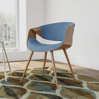 Palm Canyon Mabrey Walnut Wood and Fabric Mid-century Dining Chair