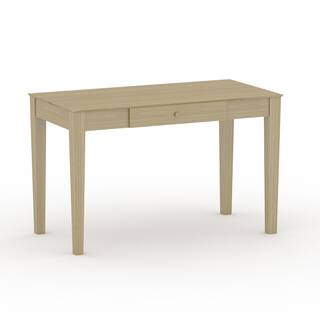 Shop Wooden Writing Desk With Butcher Block Surface Free