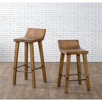The Gray Barn Gold Creek Natural Elm Wood Bar and Counter Stools