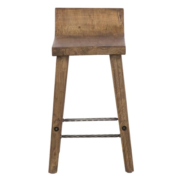 Excellent Shop The Gray Barn Gold Creek Natural Elmwood Counter Stool Machost Co Dining Chair Design Ideas Machostcouk