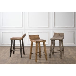 the gray barn gold creek natural low back wood counter stool free shipping today overstock. Black Bedroom Furniture Sets. Home Design Ideas