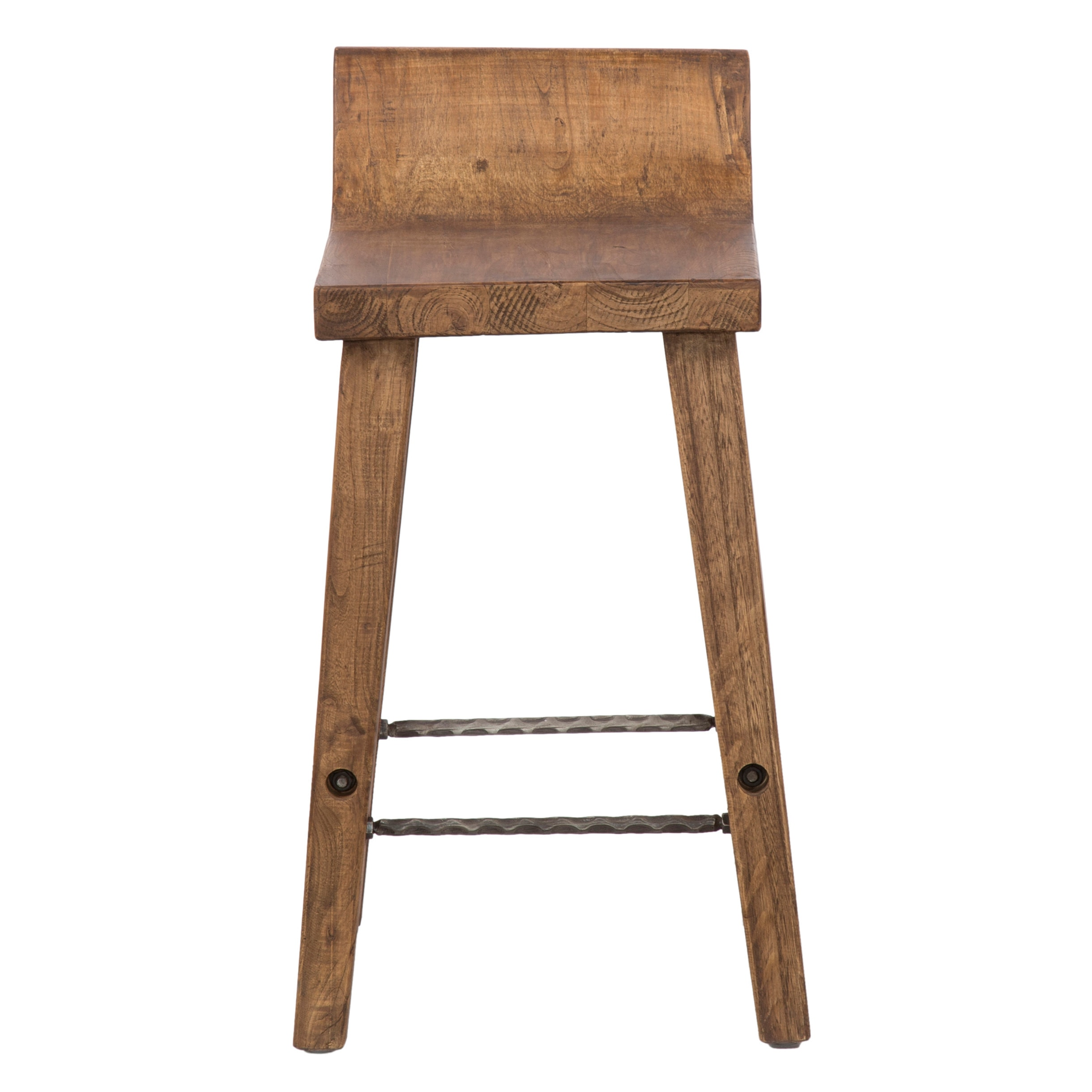 Lovely The Gray Barn Gold Creek Natural Low Back Wood Counter Stool (2 Options  Available