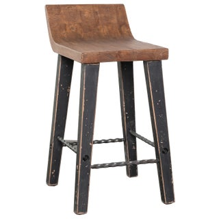 The Gray Barn Gold Creek Natural Low-back Wood Counter Stool (2 options available)