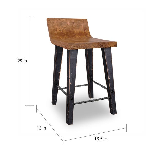 Remarkable Shop Tam Rustic Natural Wood 24 Inch Counter Stool By Kosas Camellatalisay Diy Chair Ideas Camellatalisaycom