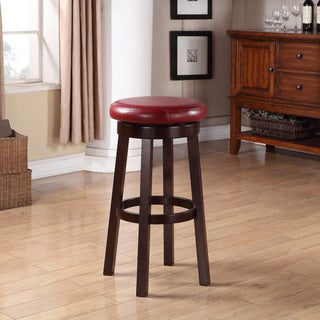 Copper Grove Turtle Mountain Round Faux Leather 30-inch Barstool