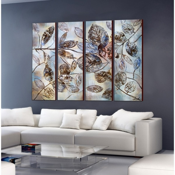 Copper Grove 'The Falling Leaf' 4-piece Gallery Wrapped Canvas - multi