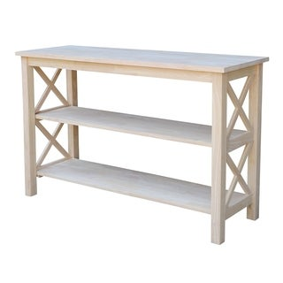 The Gray Barn Moonshine Unfinished Console Table