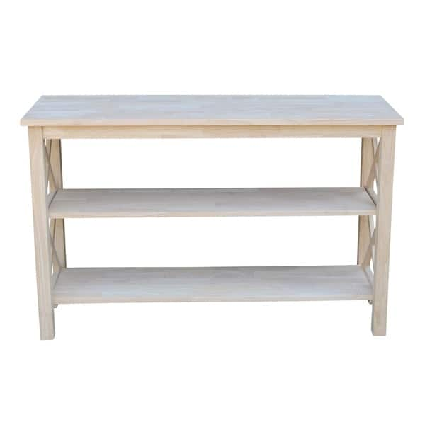 The Gray Barn Moonshine Unfinished Console Table Free