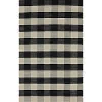 The Gray Barn Southern Cross Black and White Rug - 5' x 8'