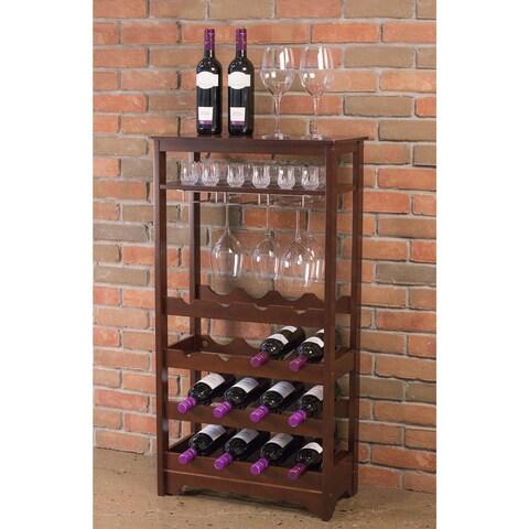 The Gray Barn Red River 16-bottle Wine Rack
