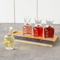 The Gray Barn Mistwood Personalized Bamboo and Slate Wine Tasting Flight - 12' x 15'