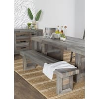The Gray Barn Buffalo Horn Reclaimed Wood Dining Bench