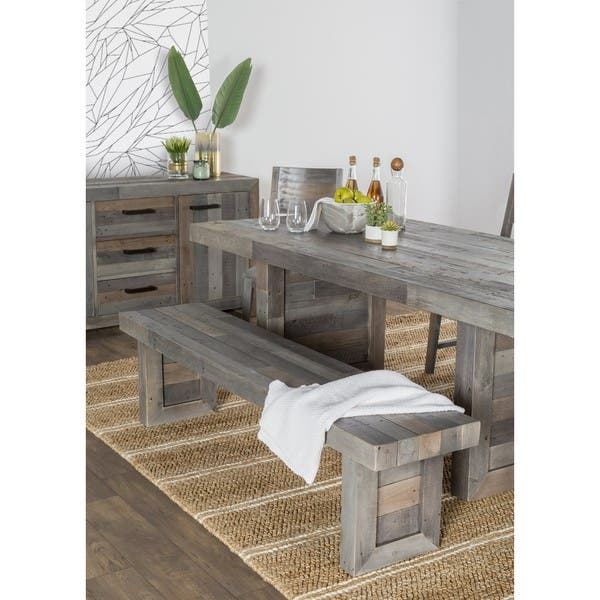 Excellent Shop The Gray Barn Fairview Reclaimed Wood Dining Bench On Spiritservingveterans Wood Chair Design Ideas Spiritservingveteransorg
