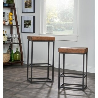 Carbon Loft Richard Reclaimed Wood Bar Stool