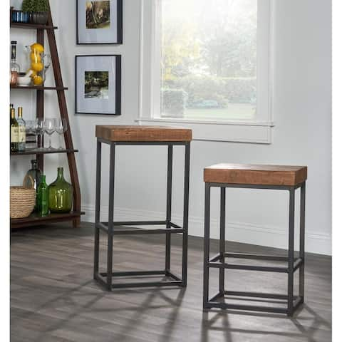 Carbon Loft Borrelli Reclaimed Wood Bar Stool