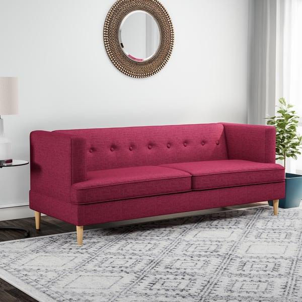 Astounding Shop Carson Carrington Larvik Mid Century Modern Fabric Sofa Caraccident5 Cool Chair Designs And Ideas Caraccident5Info